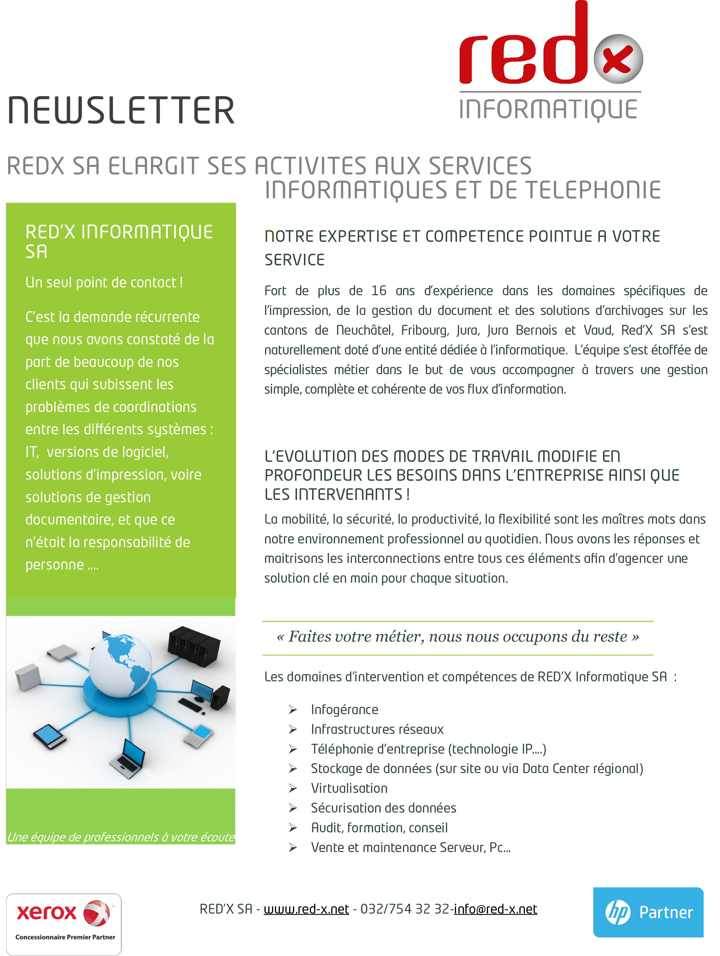 Newsletter REDX informatique